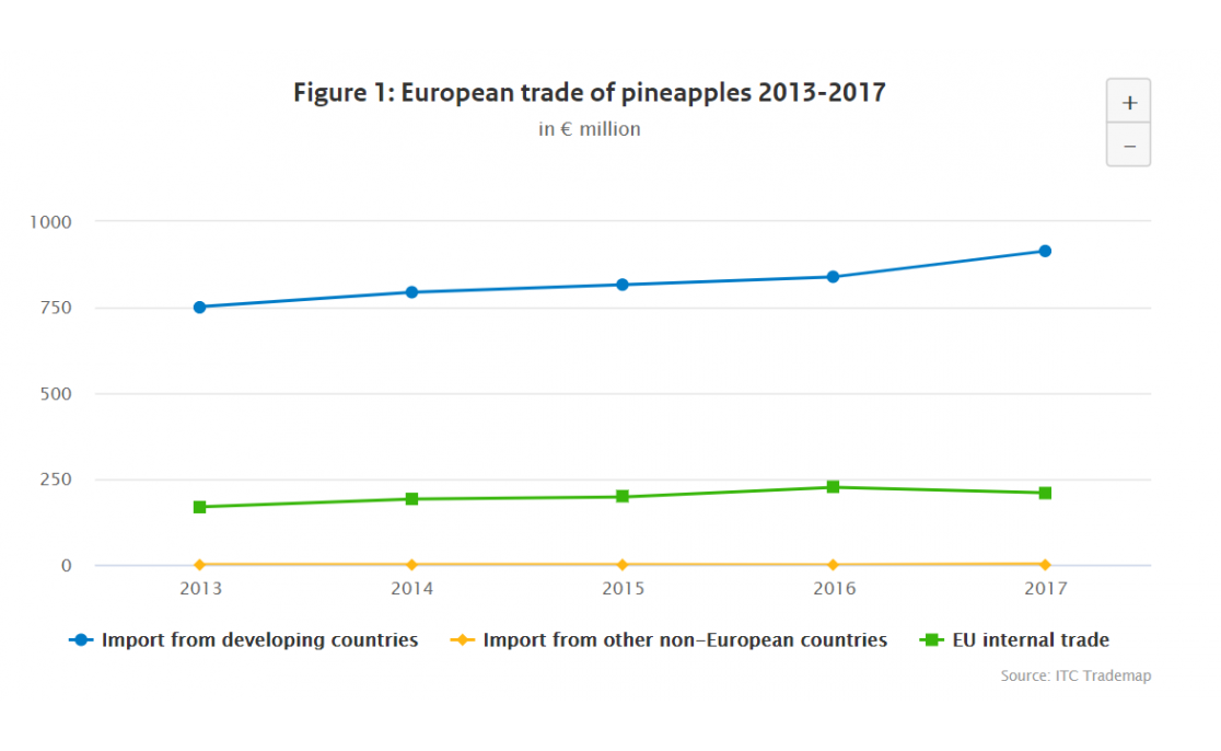 Which European markets offer opportunities for pineapple exporters?