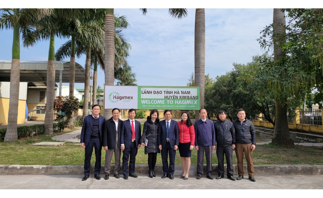 Hagimex JSC welcome the delegation of leaders of Ha Nam pro., Kim Bang dist.