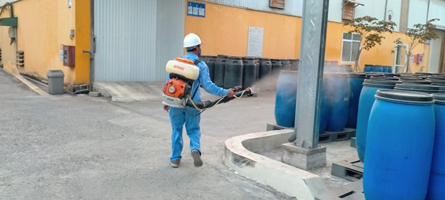 Disinfection at the factory